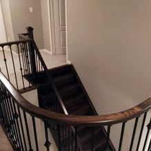 wood and iron handrails